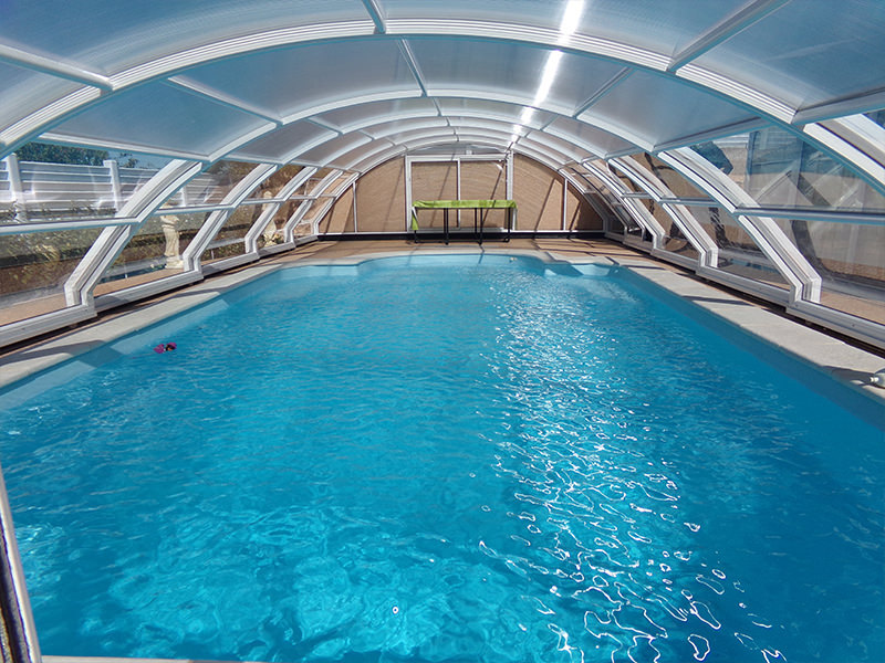 Abri piscine haut cintr mod le madrid bel abri for Abris piscine uv