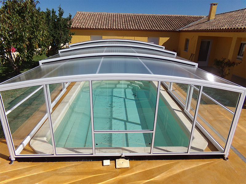 abri de piscine haut mod le ath nes bel abri. Black Bedroom Furniture Sets. Home Design Ideas