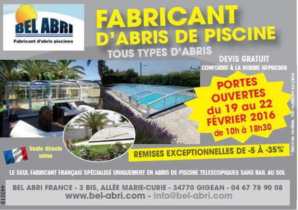 Nouveaux mod les d 39 abri piscine bel abri - Couverture piscine tendue perpignan ...