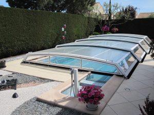 Abri piscine sans rail modèle London