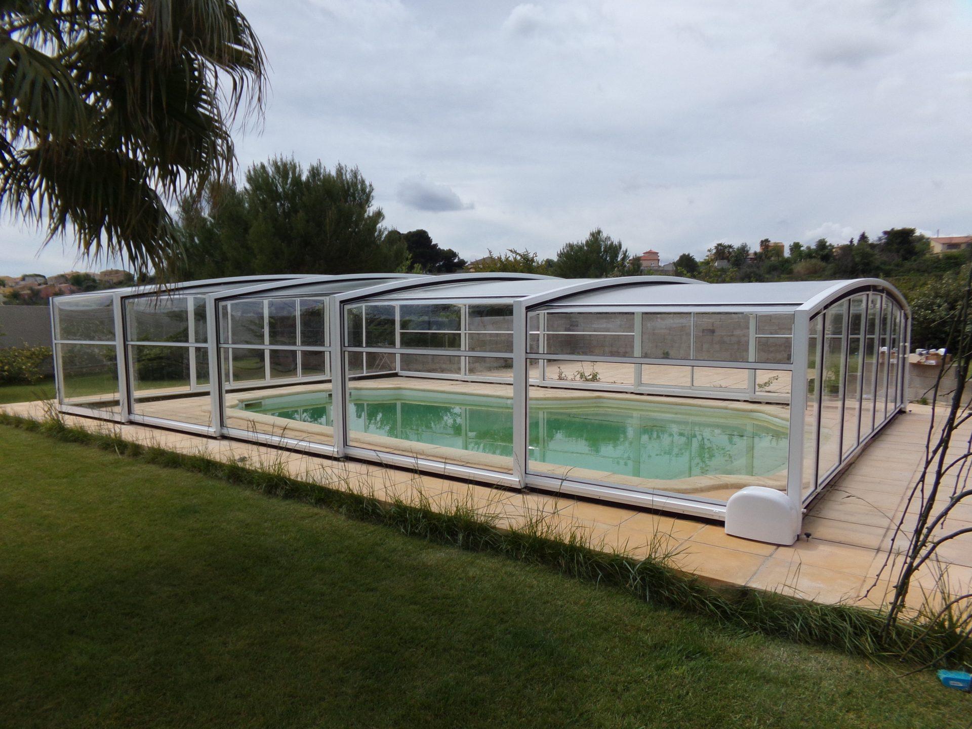 Abri de piscine haut mod le ath nes bel abri for Abri solaire mural