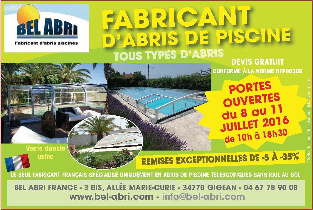 Portes ouvertes du 8 au 11 juillet abri piscine for Piscine 05 juillet