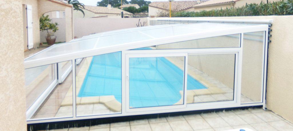 abri piscine adossé modèle dublin