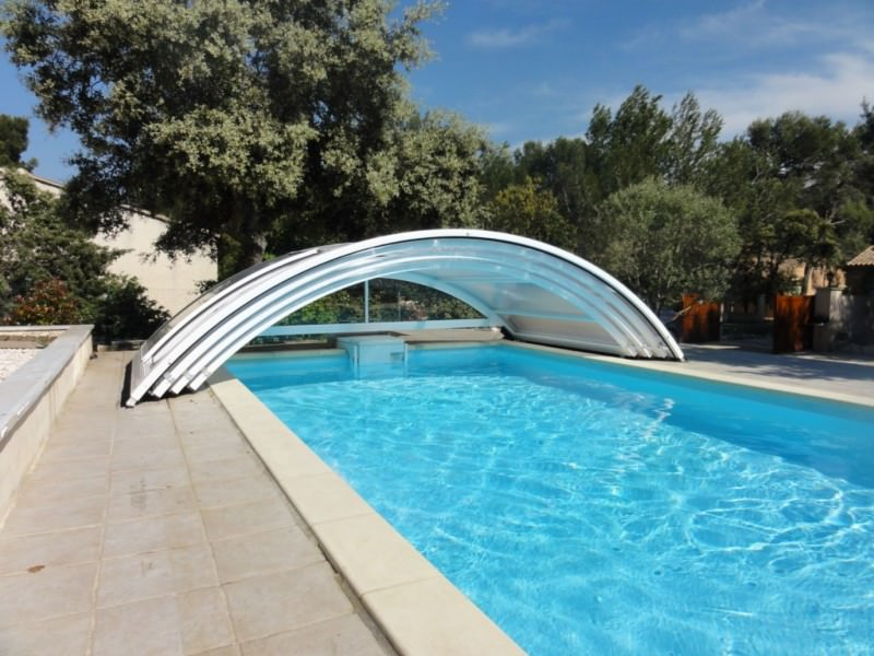 abri piscine coulissant modèle Roma