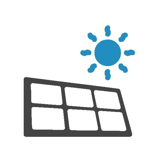Abri avec motorisation solaire