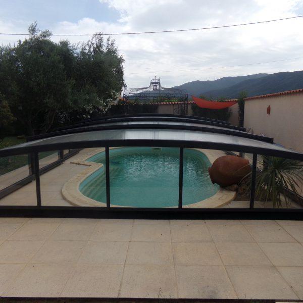 abri piscine coulissant gris modele athenes