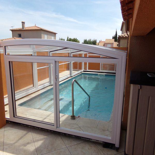 abri piscine sur mesure modèle Athènes