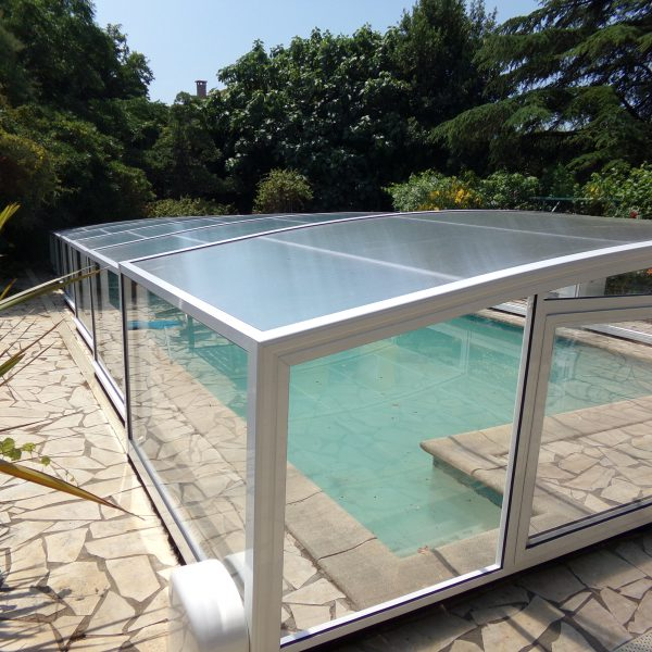 abri piscine medium athene blanc